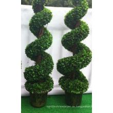 Große Bonsai Künstliche Buchsbaum Spiral Baum