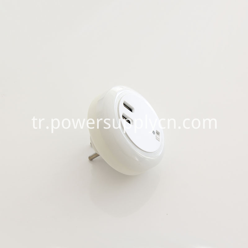 USB Charger With LED Night Lamp