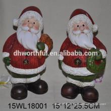 Papá Noel de cerámica para las vacaciones de la Navidad 2016