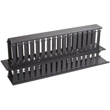 """2u 19"""" Plastic Dual-Sided Rack Mount Horizontal Cable Manager"""