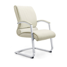 Conference Room White Leather Recliner Meeting Chair with Armrest