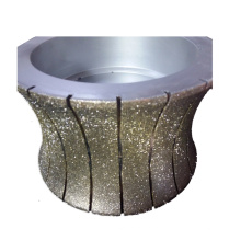 Fábrica de porcelana de 300 mm galvanizado diamante rebolo para asfalto