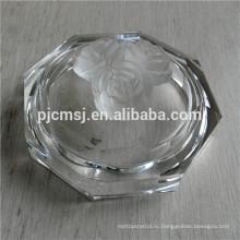 Красивая шкатулка круг Кристалл jewerly для украшения, кристаллическая коробка