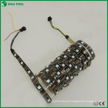 30leds / M individualmente dmx512 controle DMX RGB endereçável levou luz de tira