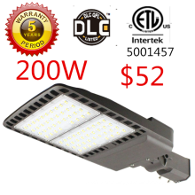 ETL listed shoe box shaped 200w led street light