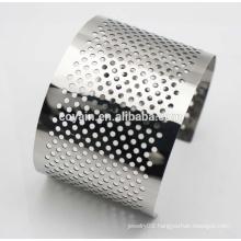 Fashion Lady Stainless Steel Bangle Heavy Cuff Bracelets