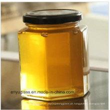 400ml frasco de vidro para armazenamento mel, alimentos, salmoura, garrafas de vidro
