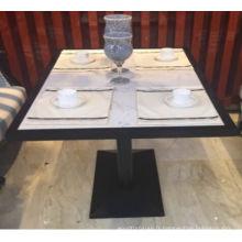 Tableaux de salle à manger d'hôtel 5 étoiles de marbre de quartz de surface solide à extrémité élevé de marbre