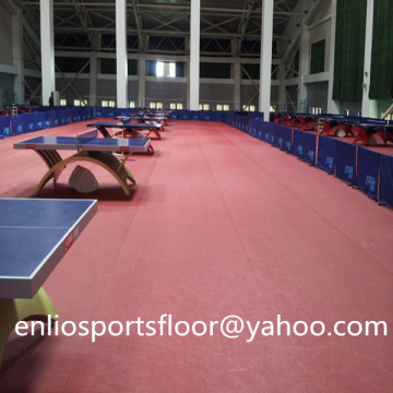 ITTF Bordtennisgolv pvc bordtennisgolv