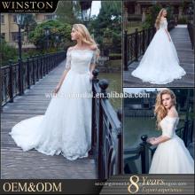 New Luxurious High Quality wedding dress princess wedding dresses lace sleeves