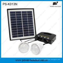 4W portátil emergencia luz Kit Solar con Cargador Solar del teléfono del USB