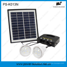 4W Portable d'urgence léger Kit solaire avec chargeur de téléphone solaire USB