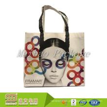 O logotipo feito sob encomenda relativo à promoção amigável de Eco laminado não tecido elegante recicl o saco com projete a cópia