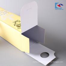 Printed logo cheap wholesale liquid lipstick small folding paper packaging box