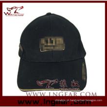 Alta qualidade em branco liso superior militar Cap chapéu