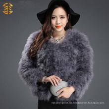 Neue Ankunfts-hochwertige reale Feder-Pelz-Frauen-Kleidung reizvoll