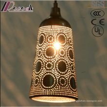 Ancient Hollow Metal Black Pendant Light with Restaurant