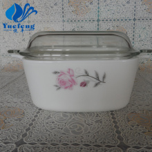Opal Glass Square Casserole With Lid