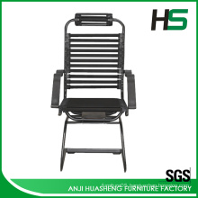 Low price black elastic bungee visitor chair