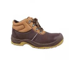 Профессиональный труд PU / кожа Промышленная обувь безопасности