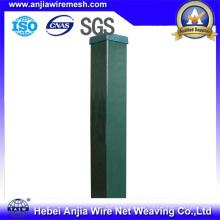 Seguridad Metal Esgrima PVC Coated Square Post