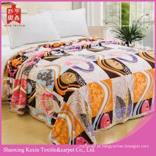 Figura geométrica design Micro coral cobertor de lã