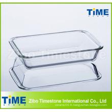 Assiette en verre à haute teneur en borosilicate