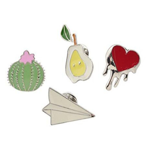 Creativo lindo cactus Lotus Flower Brooch Pins