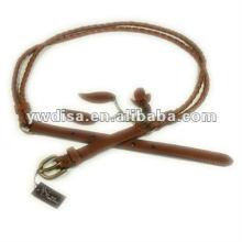 Cinturón de cuero trenzado real de la correa de cuero de la flor para el vestido