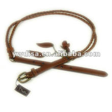 Braided Real Leather Belt Flower Leather Belt For Dress