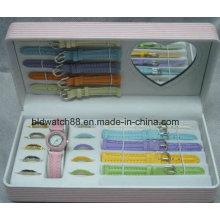Conjuntos de oferta de relógio de promoção com alças e anéis mutáveis