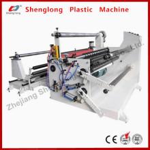 Machine de rembobinage à coupe automatique pour Adhseive Tape / Pet / PVC