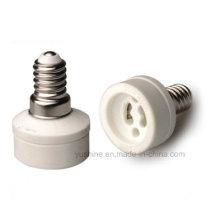 E14 к GU10 Адаптер лампы с фарфоровым держателем