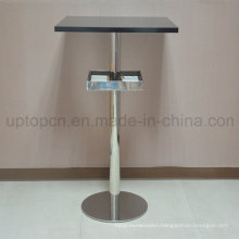 Stainless Steel Bar Table with Storage Rack (SP-BT689)