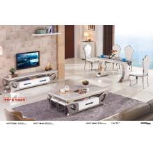Móveis vivos Mesa de café de mármore superior (A3075)