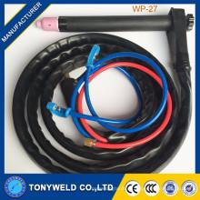 Competive precio soldadura con gas soldadura tig linterna WP-27 serie tig