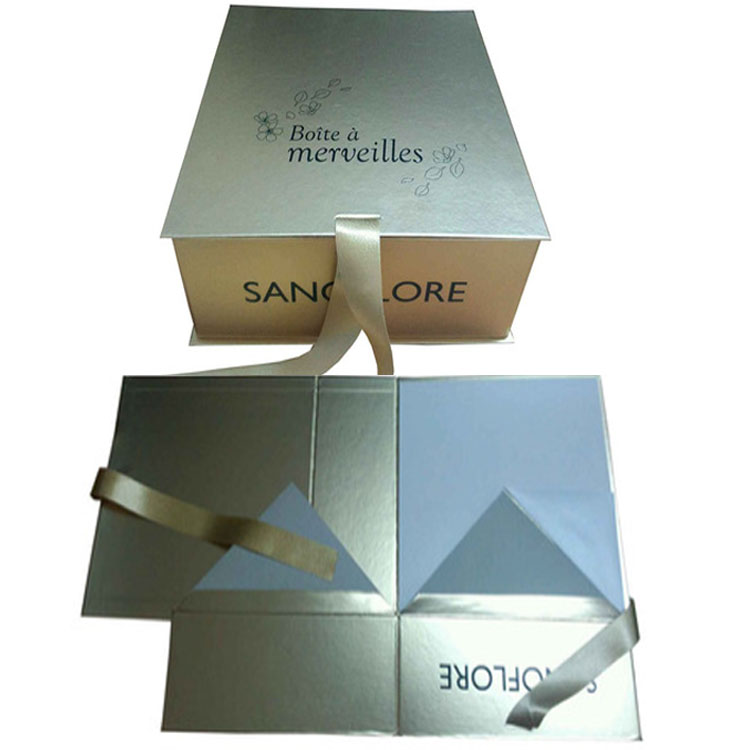 Luxury Paper Glossy Gold Gift Box