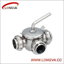 Трехходовой плунжерный клапан Hotsale Ss304 / 316L
