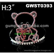 cheap rhinestone bear tiara crown -GWST0393