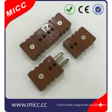 type k thermocouple plug and jack connector