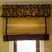 Home decor classic roman blind curtains with attached valance