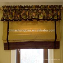 Cortinas cegas clássicas clássicas de decoração doméstica com valência em anexo