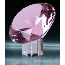 Diamante de cristal cor-de-rosa de 40mm Ks2014009