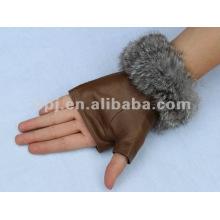 Mode fingerless braune Handschuhe, halbe Handschuhe für Damen