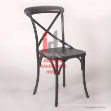 Промышленные старинные железа пересекала серая отделка обеденный стул