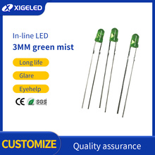 3mm green-hair-green fog strong long feet in-line led