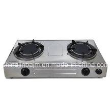 2 Brûleur # 135 * 2 brûleurs infrarouges avec cuisinière à gaz à minuterie