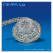 Прозрачный пластиковый шланг со стальной проволокой