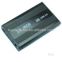 """Aluminium alloyl USB 2.0 SATA 3.5"""" External Hard Drive Enclosure"""