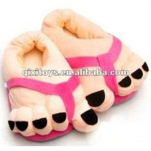 lindos pies rellenos y felpa zapatos de interior